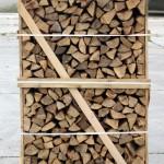 Brennholzpalette Vorderansicht