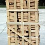 Brennholzpalette Seitenansicht